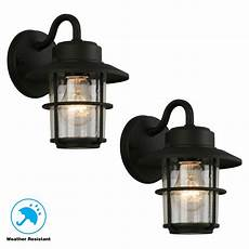 heath zenith 1 light black motion activated outdoor wall lantern hz 4152 bk the home depot