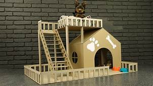How To Make Amazing Puppy Dog House From Cardboard  YouTube