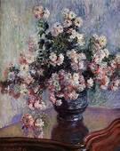 Chrysanthemums 1880  1881 Claude Monet WikiArtorg