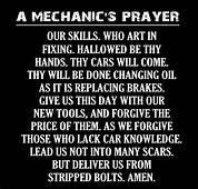 A Mechanics Prayer  Jokes/Quotes/Poems Pinterest