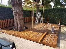 pedana legno giardino nostre realizzazioni recinzione e pedana in legno