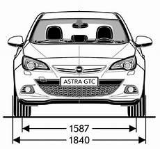 Opel Astra J Gtc Abmessungen Technische Daten L 228 Nge