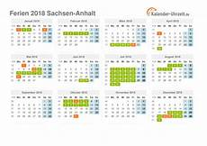 Ferien Sachsen Anhalt 2018 Ferienkalender Zum Ausdrucken