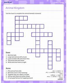 animal kingdom worksheet for grade 1 14255 animal kingdom crossword critical thinking worksheet jumpstart