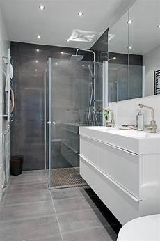 salle de bain et gris id 233 e d 233 coration salle de bain une salle de bains en gris