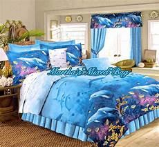 dolphin bedding tropical ocean beach all sizes nautical blue comforter set sheet ebay