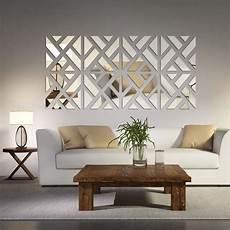 mirrored chevron print wall decoration easy home decor room decor cheap home decor