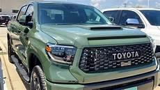2020 toyota tundra trd pro army green dashboard