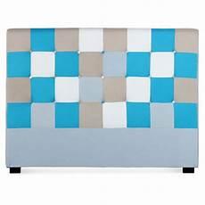 tete de lit patchwork t 234 te de lit capitonn 233 e quot patchwork quot 160cm bleu