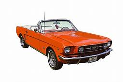 1965 Red Convertible Ford Mustang  Classic Car Photograph
