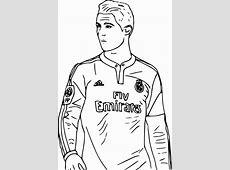 Ronaldo coloring page