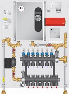 electric boiler panel 30 000btu with 7 loop twist seal multiport heatlink