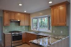 Kitchen Countertops In Ny by 3 X 6 Glass Subway Tile Color Bamboo Traditional