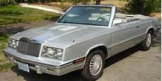 chrysler lebaron convertible 1985 silver for sale