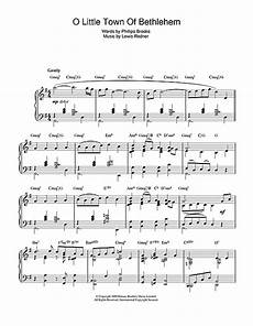 o little town of bethlehem jazz version sheet music by christmas carol piano 49619