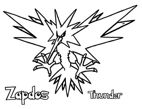 Zapdos Coloring