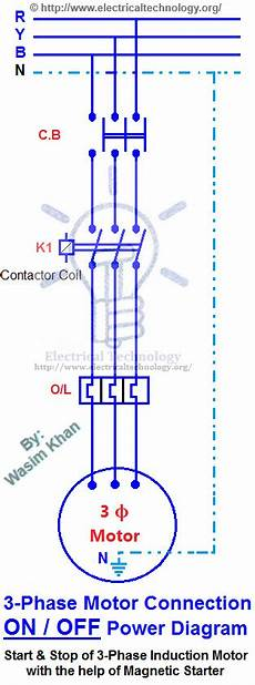 three phase motor power wiring diagrams off three phase motor connection power control