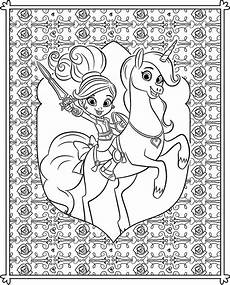 Ausmalbilder Prinzessin Nella Nella The Princess Coloring Pages