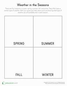 seasons and weather worksheets 2nd grade 14864 weather in the seasons worksheet education