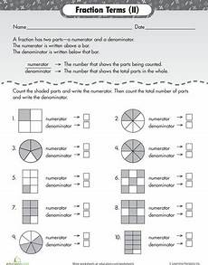 fraction worksheets numerator denominator 3899 numerator and denominator basic fraction terms worksheets fractions and articles