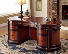home office wood furniture kingsway oval office desk in cherry black wood home