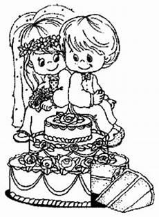 Gratis Malvorlagen Hochzeit Hochzeitstorte Mit Ehepaar Ausmalbild Malvorlage Hochzeit