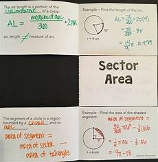 geometry worksheets area of sectors 843 arc length and sector area foldable geometry notebooks and interactive notebooks
