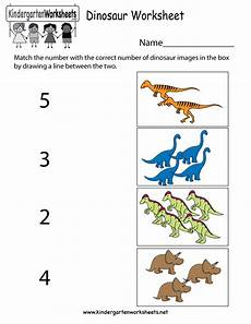 dinosaur worksheet free kindergarten learning worksheet for kids