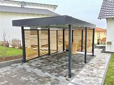 Carport Holz Metall - carport aus metall in ral 7016 mit douglasie rhombus