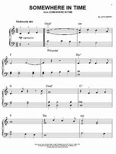 somewhere in time sheet music somewhere in time sheet music by barry easy piano 60330