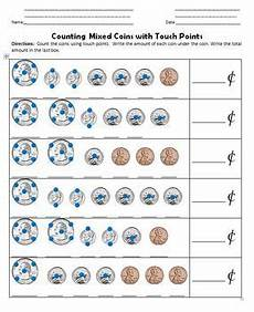 touch math skip counting worksheets 11961 touch math points money coins by jason simco tpt