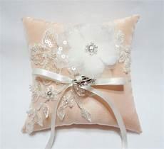 wedding ring pillow wedding ring bearer pillow salmon pink ring pillow ring pillow
