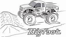bigfoot truck coloring page truck coloring pages