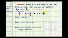 ex 1 given linear equation in standard form write in