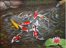 Lukisan Ikan Koi 1 Lia Gallery Lia Gallery