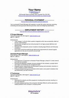 monster resume free excel templates