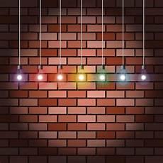 brick wall and light bulbs stock vector illustration of