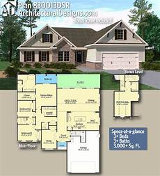 single story house plans with bonus room plan 830013dsr bonus room included with images