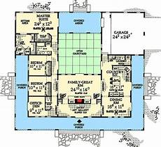 single level house plans with courtyard central courtyard dream home plan 81383w architectural