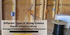 different types of wiring methods types of wiring systems and methods of electrical wiring