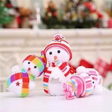 lucu gelembung kecil boneka salju natal hadiah natal pohon natal hanging art dekorasi partai