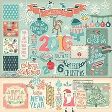 christmas scrapbook decorative elements christmas scrapbook christmas vectors merry