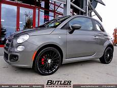 fiat 500 with 17in tsw mallory wheels exclusively from