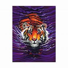 schwimmender tiger malen nach zahlen mammut 9 95