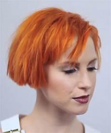 hayley williams straight orange bob choppy bangs hairstyle steal her style