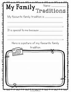 traditions worksheets 15587 family traditions by coreas creations teachers pay teachers