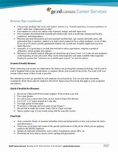 resume tips and sles