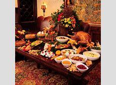 Thanksgiving Buffet table ideas.   Buffet Set Up