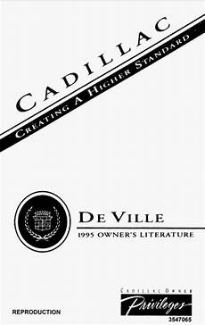 online car repair manuals free 2002 cadillac deville transmission control cadillac deville 1995 owner s manual pdf online download