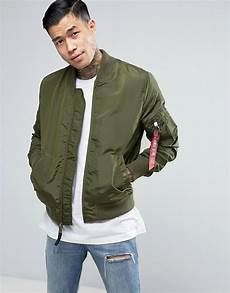 alpha industries ma1 tt bomber jacket slim fit in